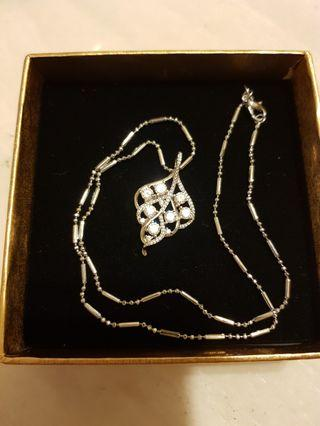 莫桑石設計款925銀項鍊