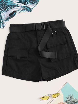 🚚 Black Utility Shorts