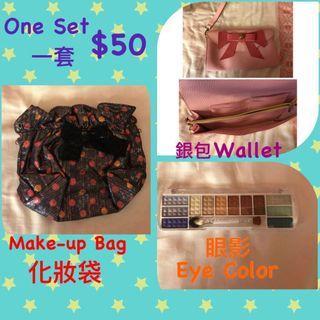 Lady Bag, Wallet 化妝袋,銀包