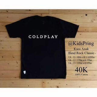 Kaos anak laki perempuan coldplay