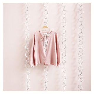 Bow shirt dusty pink