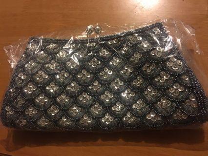 全新珠片閃手袋 手抓包 Clutch Bag 100%new