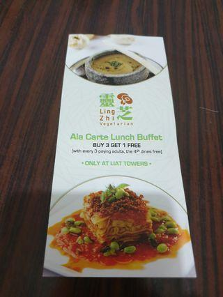 Lingzhi Vegetarian Restaurant Voucher