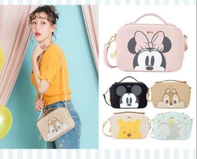 Disney Dumbo Chip Mickey Minnie Pooh shoulder bag