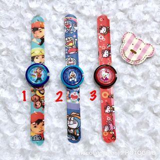 Jam tangan anak karakter. Harga satuan yah / per pcs (per buah)