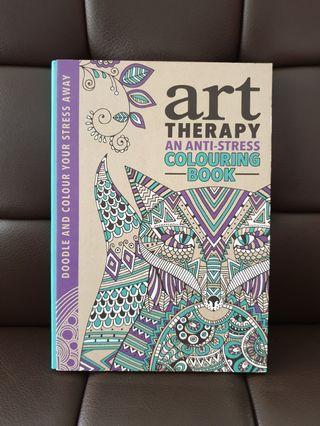Art Therapy an Anti-Stress Hardbook Colouring Book