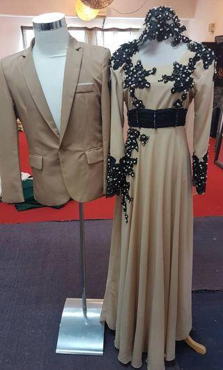 Dress brown + coat brown