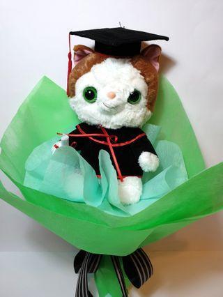 Cat Graduation Convocation Hand Bouquet Gift Plush