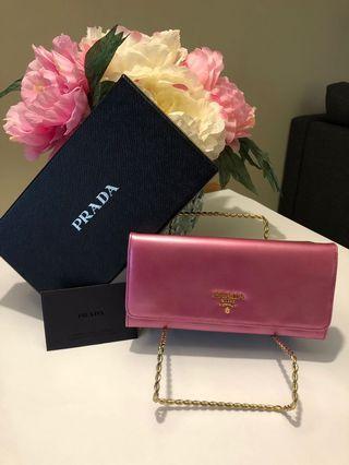 Authentic Pink Prada Wallet