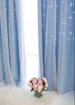 Star Black out and Day Curtain (Punch Hole)