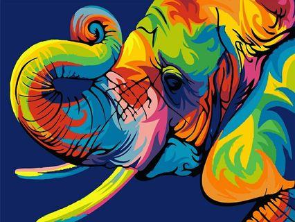 ELEPHANT DIY PAINTING BY NUMBER (UNFRAMED)