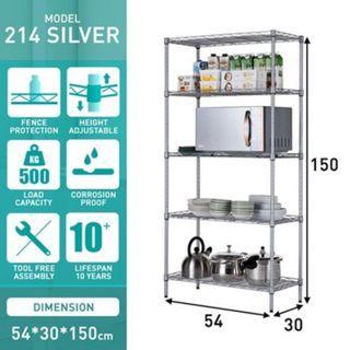 5 tier Kitchen Storage Rack Shelf Organizer
