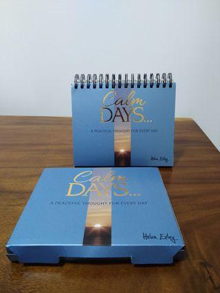 Calm Days Quote Calendar (365 days)