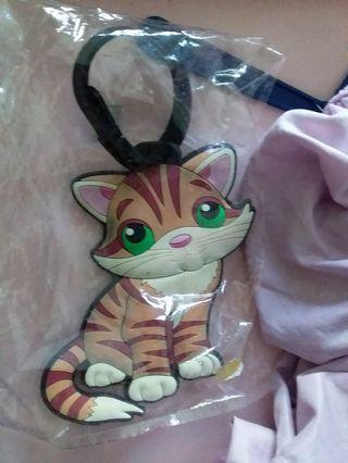 bag tag  cat/ bag accessory