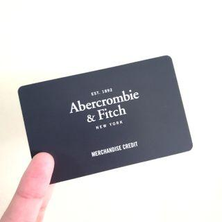 🚚 Abercrombie & Fitch $124 Gift Card