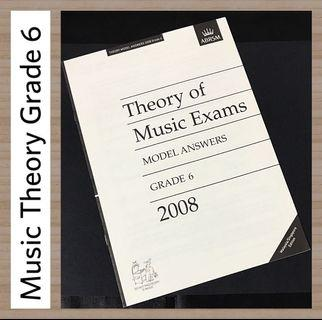 ABRSM 2008 Grade 6 Music Theory Model Answers