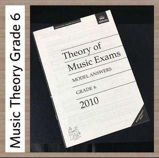 ABRSM 2010 Grade 6 Music Theory Model Answers