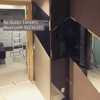🚚 Custom black tinted mirror renovation