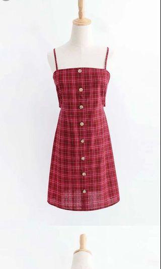 🚚 Red Checkered Dress