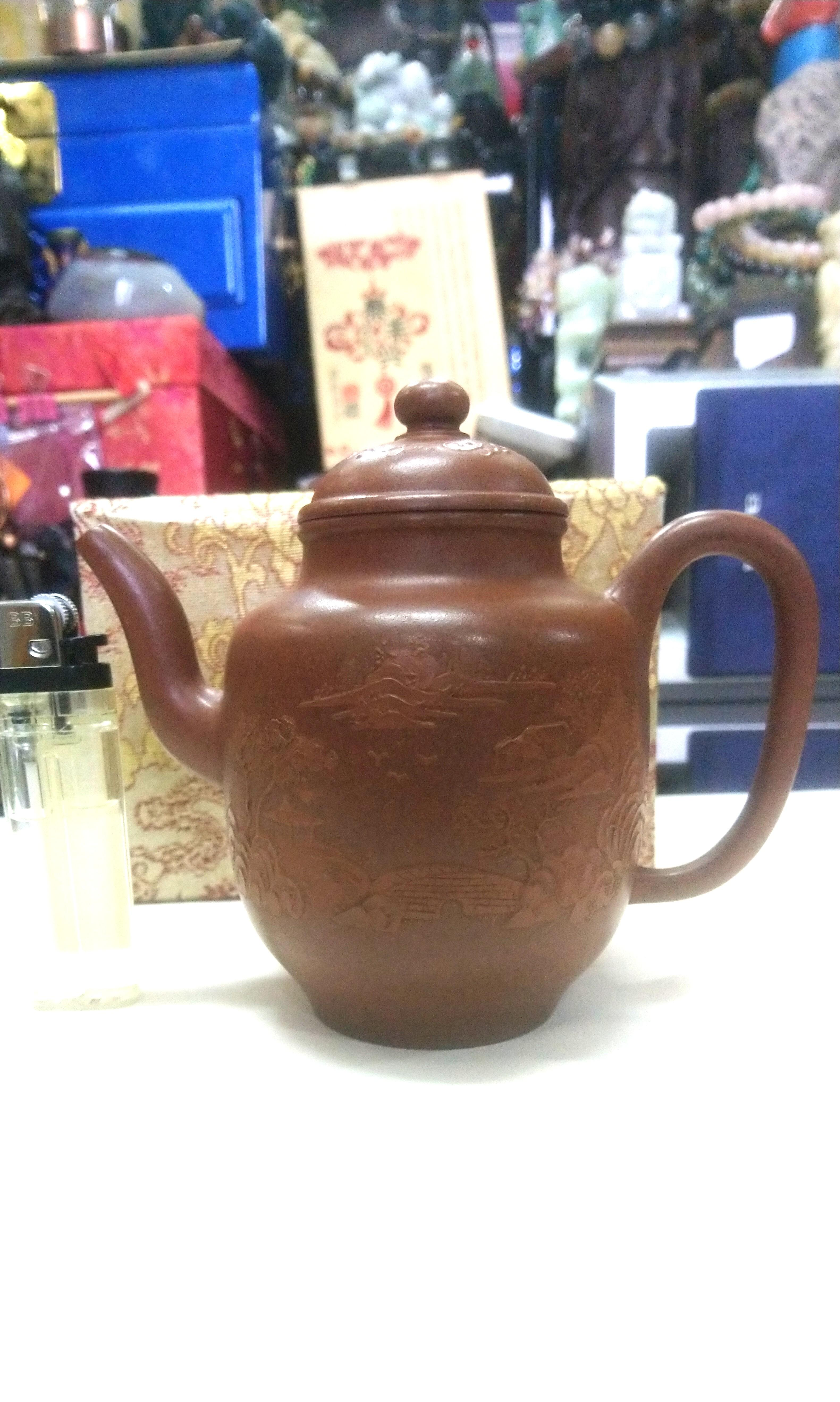 60年代早期紅紫砂茶壺