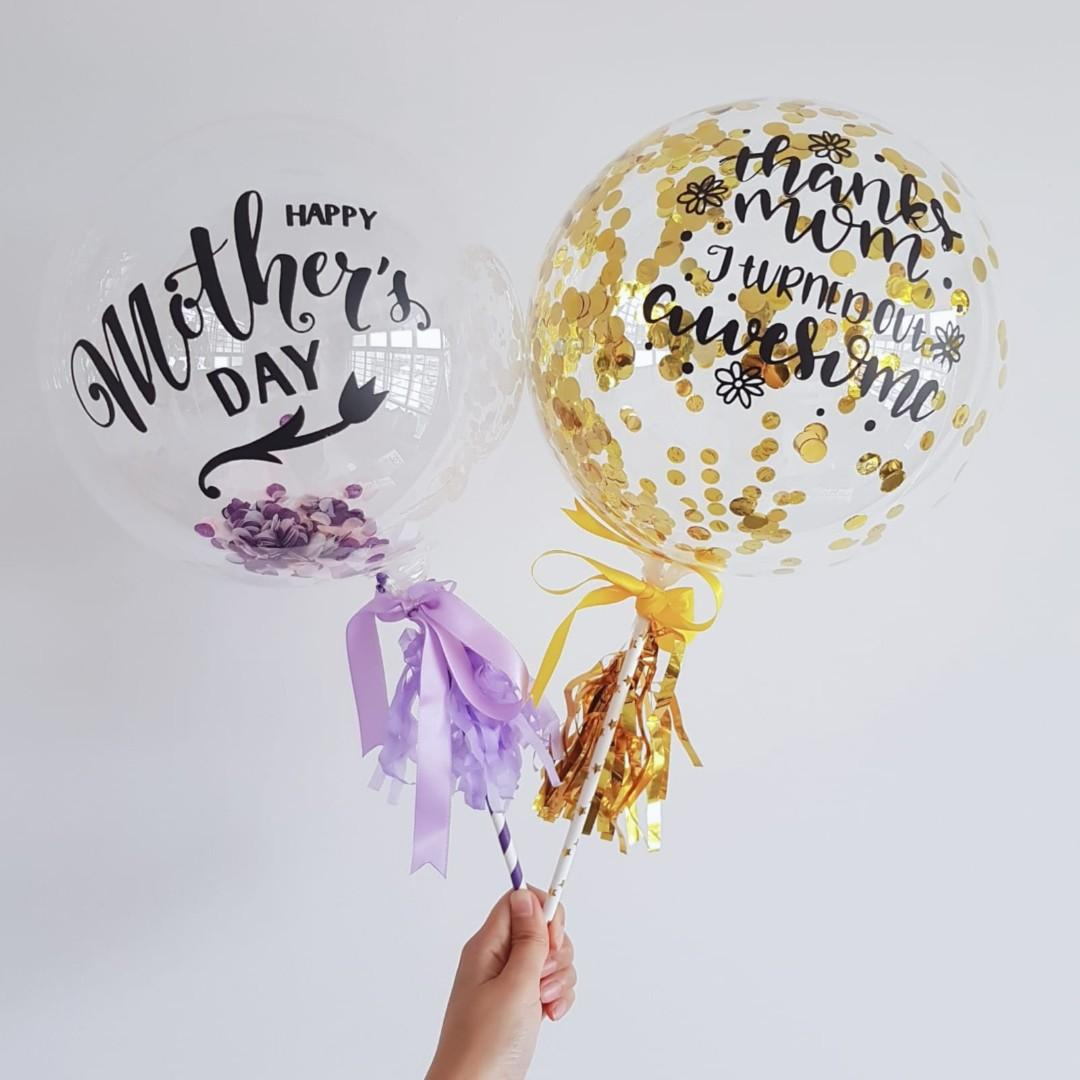 """7"""" Mother Day Customised with a small bouquet of flower"""