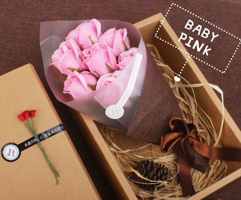 7 Rose BouquetMinimalistSimple GiftMothers DayGirlfriend
