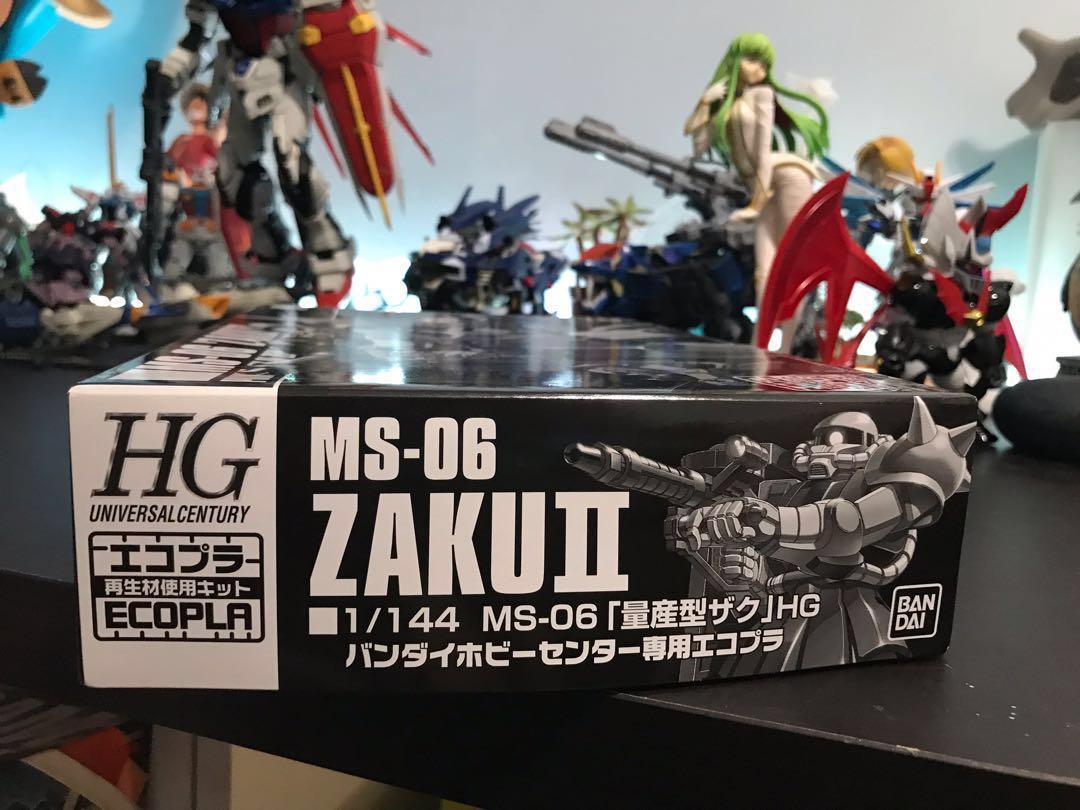 靜岡限定 Ecopla  HGUC 全黑渣古2 MS-06 ZakuII 1/144 高達模型