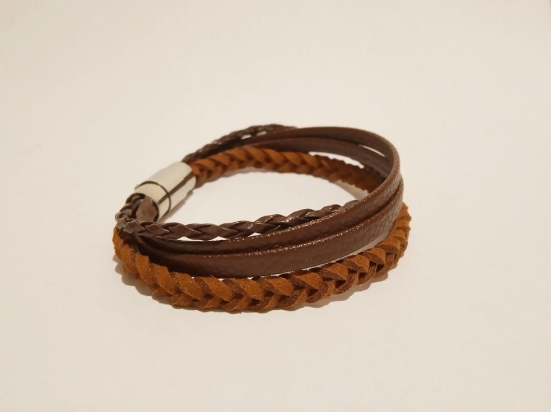 啡色皮手繩 Leather Bracelet