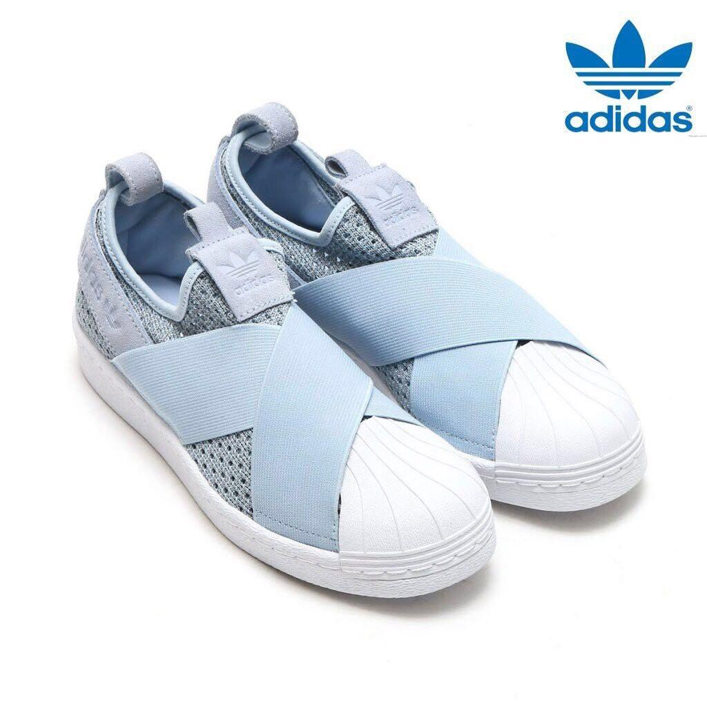 super popular 7f86d 67e5a Adidas Originals Superstar Slip-On Light Blue-White, Women's ...