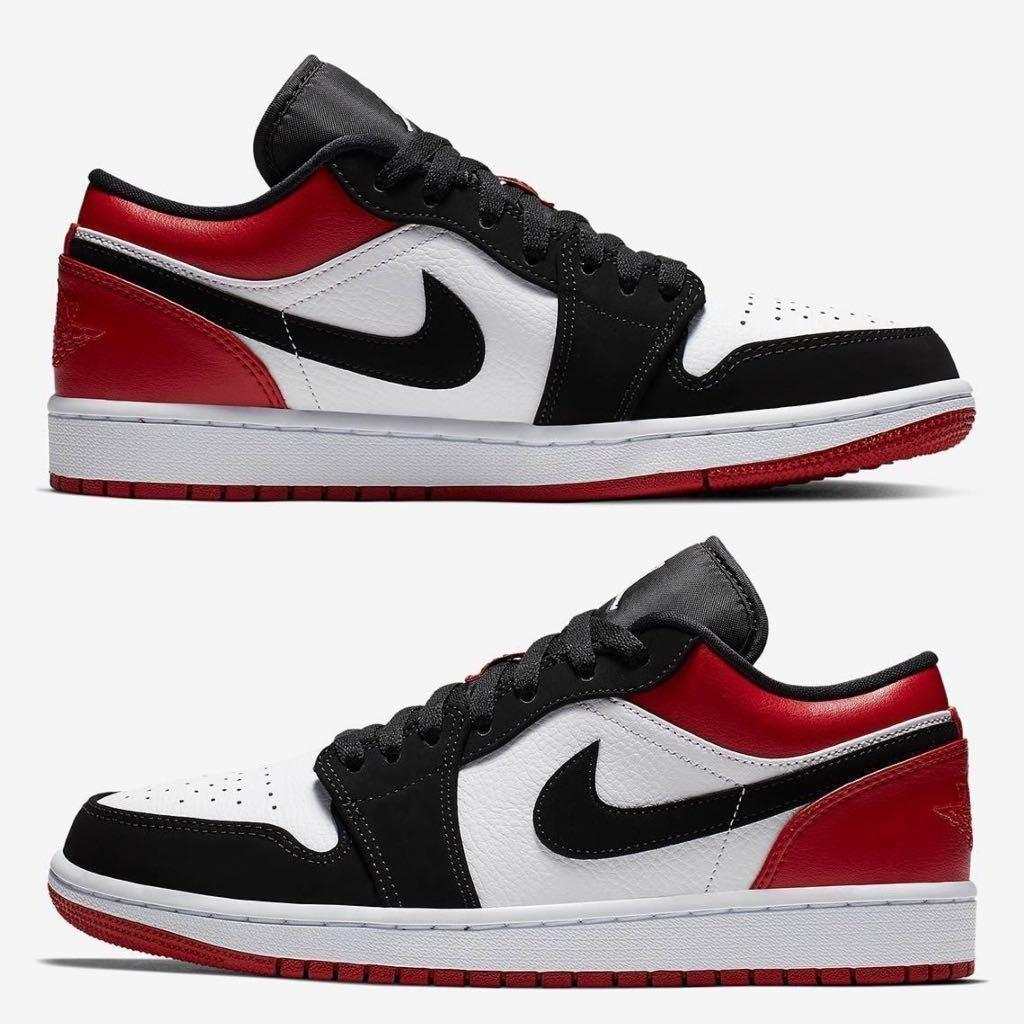finest selection 1e566 dbb9f Air Jordan 1 Low Bred, Men's Fashion, Footwear, Sneakers on ...