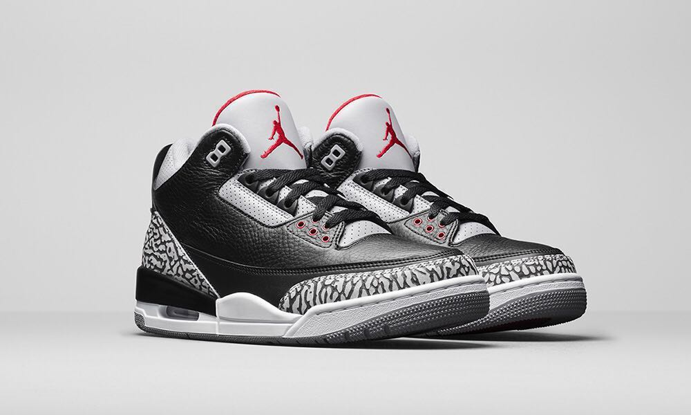 19ab159d25e Air Jordan 3 Black Cement, Men's Fashion, Footwear, Sneakers on ...