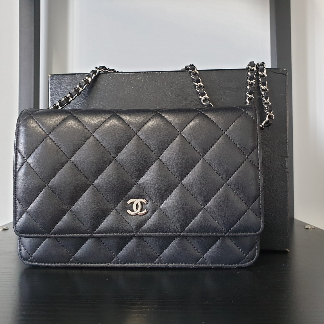 caa3c018ae18 Authentic Chanel Classic Quilted WOC Black Lambskin SHW, Luxury ...