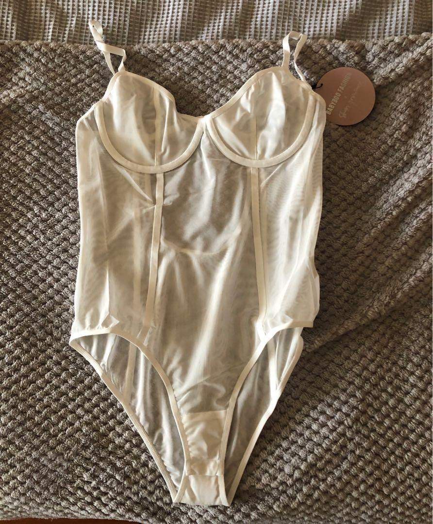 BABY BOO X SHANI GRIMMOND - High End Bodysuit (White)