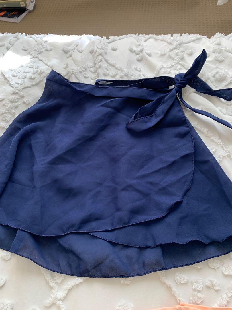 Ballet class set leotard, wrap skirt, tights, shoes