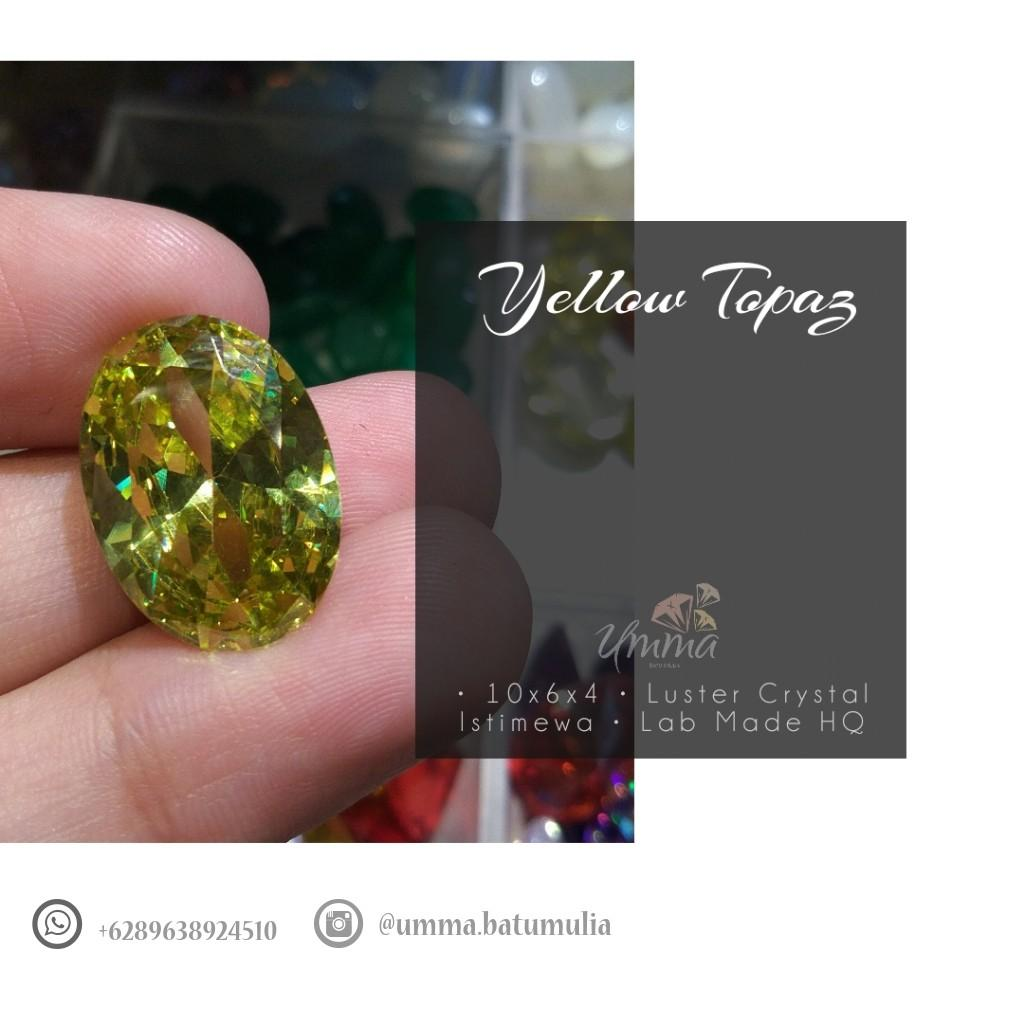 Batu Permata Yellow Topaz Lab Made HQ