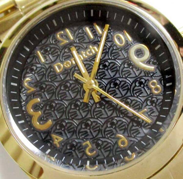 """BNIB! EXTREMELY Rare Limited Edition Doraemon Doratch """"Akeboke"""" Watch (Gold) (Only 300 ever released and with unique serial number)"""