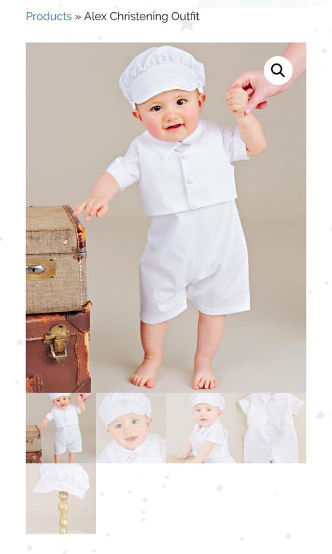 BNWT NEW 3month old Baby Christening Baptism White Outfit
