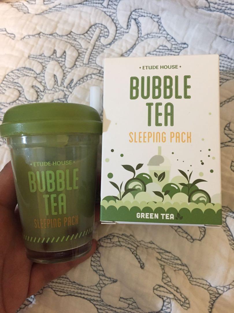 Bubble tea sleeping pack