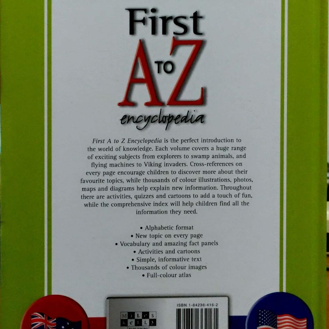 Buku First A To Z Encyclopedia 10 Jilid Bahasa Inggeris