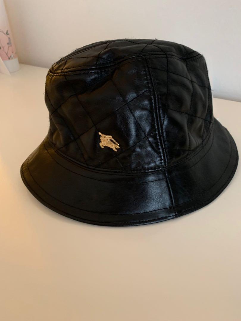 ba9cb511c5c2a8 BURBERRY BUCKET HAT Black, Men's Fashion, Accessories, Caps & Hats ...