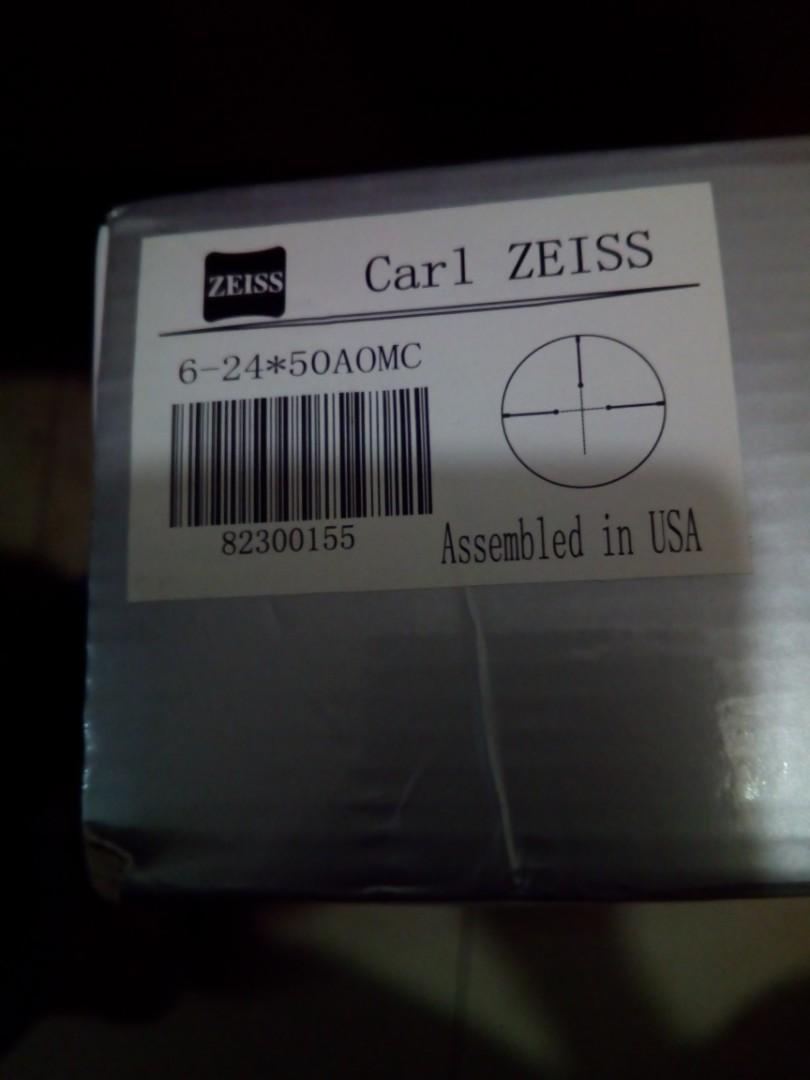 Carl Zeiss 卡爾蔡斯 美國組裝Assembled in usa 6-24x50Aomc專業级描準望遠鏡