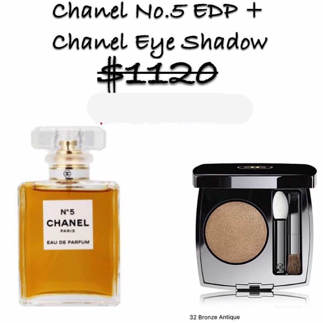 Chanel 經典香水No.5 +單色眼影 優惠組