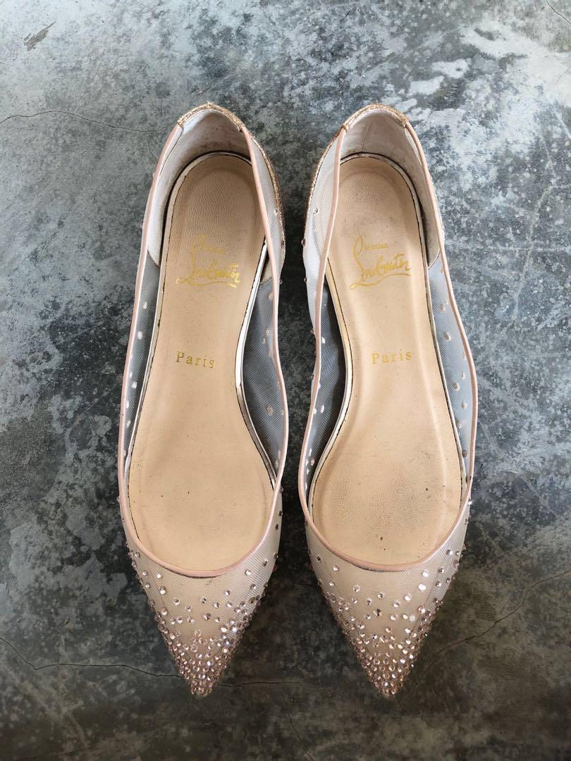 Christian Louboutin Wedding Shoes Flats Body Strass Flat Res