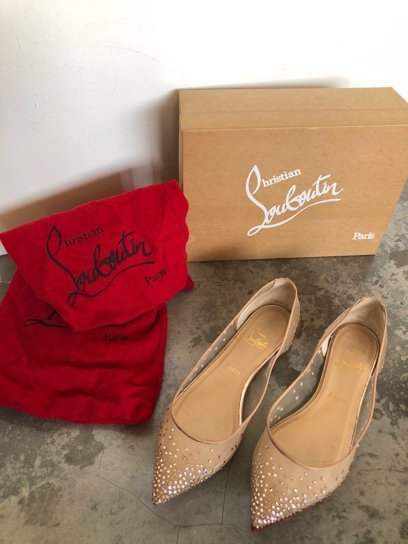buy popular c05cf 9a5ea Christian Louboutin Wedding Shoes Flats - Body Strass Flat ...