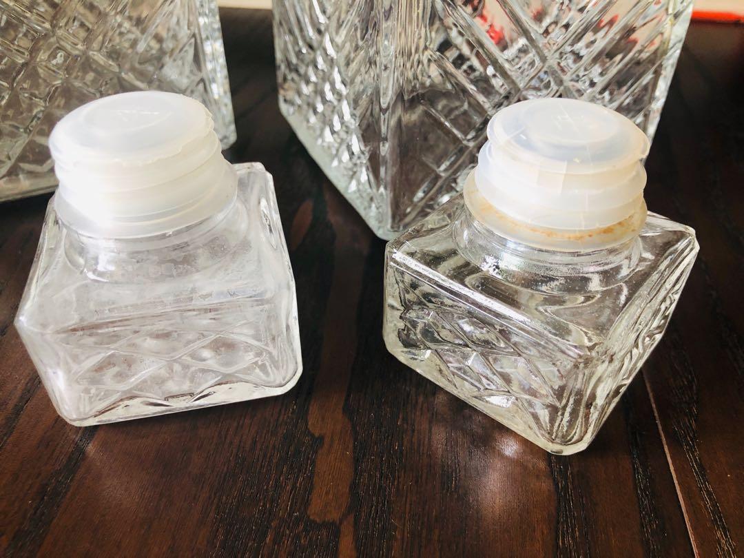 Crystal Vase bottles old 2 for $10