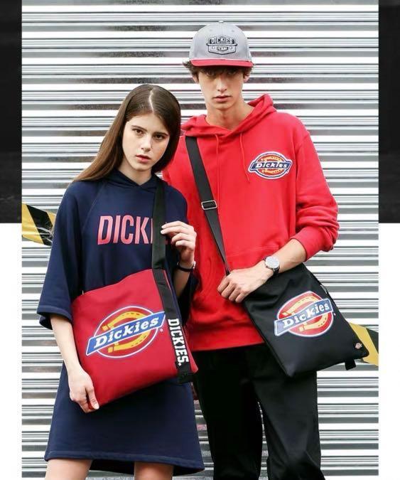 Dickies 黑色 斜咩袋 包 型格則孭袋