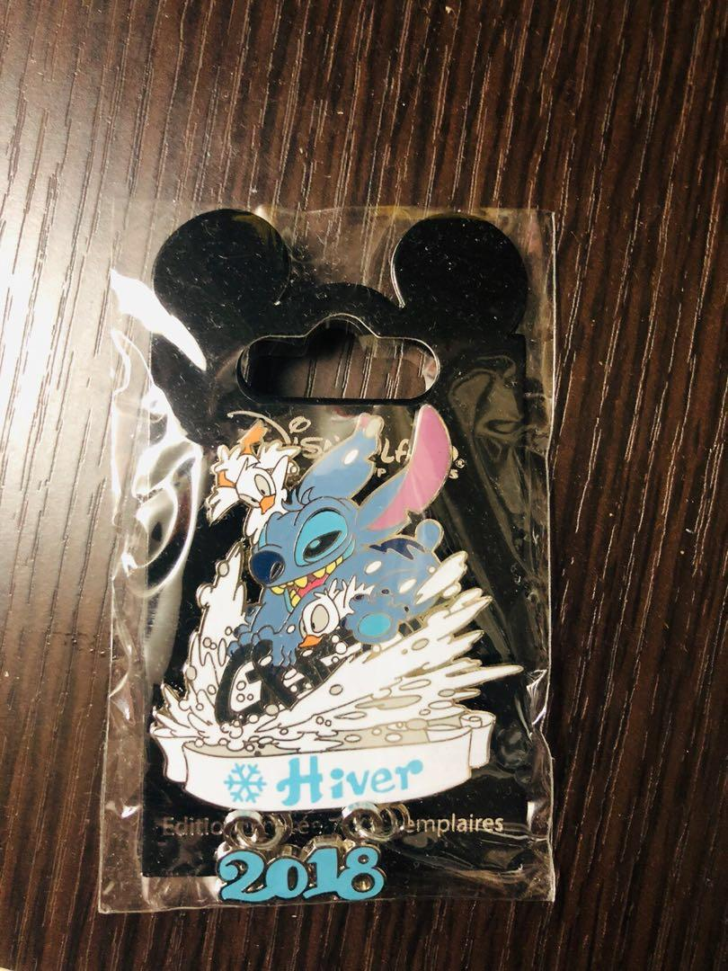 Disneyland Resort Paris pin 法國巴黎迪士尼徽章襟章 Winter 2018 - 史迪仔Stitch and Ducklings LE700 Disney pins