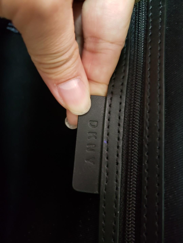 DKNY 真皮 深藍 背包 navy leather backpack
