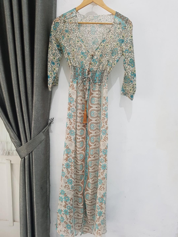 Dress Batik outwear. Pakaian wanita