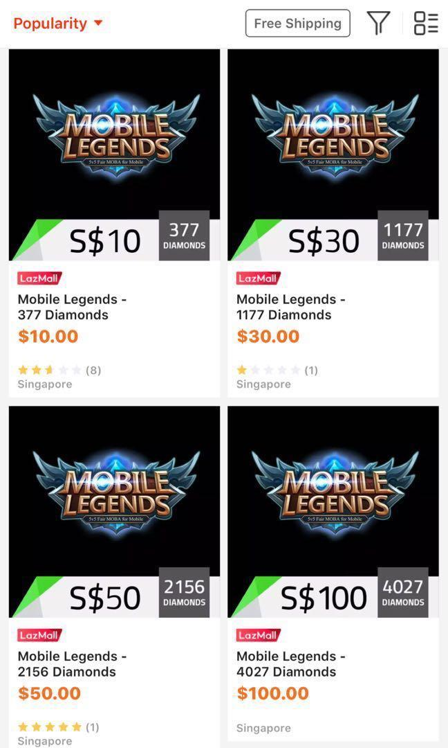 Free Mobile Legends Diamonds, Toys & Games, Video Gaming, In
